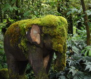 Moss covered elephant Royalty Free Stock Photos