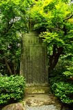 Japanese Grave in Forest Stock Images
