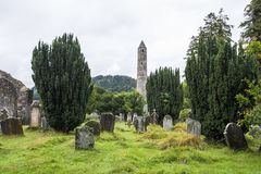 Moss-covered gravestones. Ireland Royalty Free Stock Photography