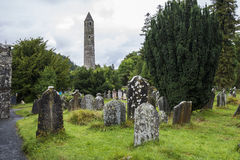 Moss-covered gravestones. Ireland Stock Image