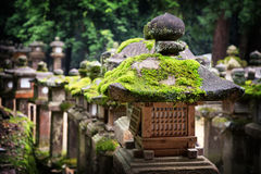Moss covered lanterns Stock Images