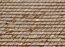 Moss covered roof Stock Images