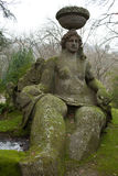 Moss-covered Statue Of Goddess Ceres Stock Photography