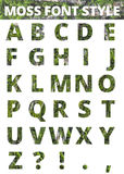 Moss font style Royalty Free Stock Photography