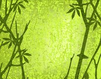 Moss forest. Editable vector illustration of a mossy forest with branches and grunges on separate layers Stock Image