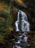 Moss Glen Falls, edición de Vermont Granville imagenes de archivo