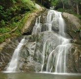 Moss Glen Falls - Granville, VT. Moss Glen Falls is a beautiful roadside waterfall on Route 100 in Granville, Vermont stock image