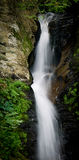 Moss Glen Waterfall, Stowe Vermont. Image of a peaceful cascading water fall in Stowe, Vermont. Moss Glen falls, Stowe Vermont royalty free stock image
