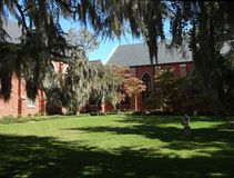 Church Courtyard in New Bern, North Carolina Stock Images