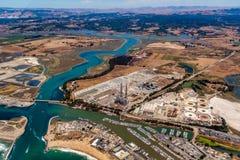 Moss Landing Power Plant royaltyfria bilder