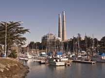 Moss Landing Yacht and Fishing Harbor Royalty Free Stock Photography