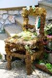 Austria. Hallstatt. Ancient chair. royalty free stock images