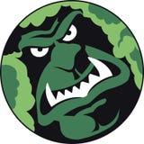Moss man. Spooky looking moss man in green Stock Image