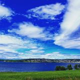 Moss Norway in summer. A view of the coastline of Moss, Norway, in the summer Stock Photography