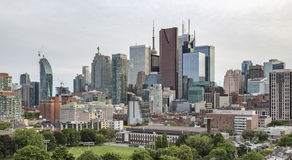 Moss Park and Toronto Skyline Royalty Free Stock Photography
