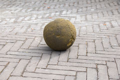 Moss Rock Ball on Street Royalty Free Stock Images