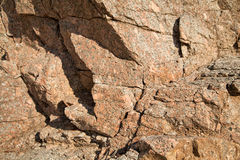 moss skały kamienia konsystencja clif w Hiszpania Śródziemnomorskim Zdjęcia Stock