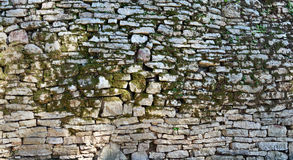 Moss stone wall Stock Photography
