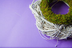 Moss and wooden wreaths Royalty Free Stock Photography