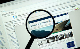 Mossack Fonseca page Stock Images