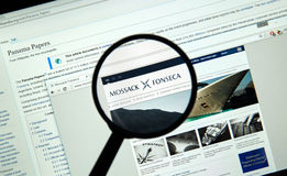Mossack Fonseca page Royalty Free Stock Photo