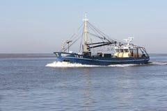 Mossel-Segelboot auf dem Wattenmeer Lizenzfreies Stockbild