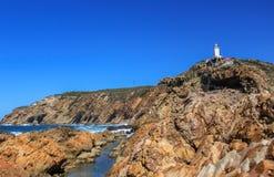 Mosselbaai latarnia morska Południowa Afryka Obrazy Stock