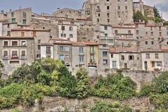 Mosset村庄在比利牛斯 免版税库存照片