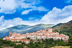 Mosset small and picturesque french village,member of Les Plus Beaux Villages de France The most beautiful villages of France.Mo. Mosset small and picturesque Stock Images