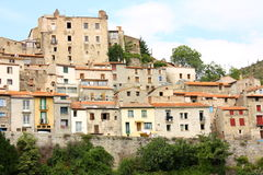 Mosset village in Pyrenees Stock Image