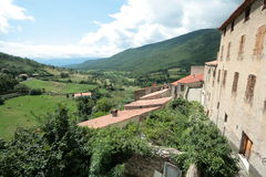 Mosset village in Pyrenees Stock Photos