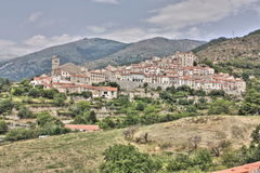 Mosset village in Pyrenees Stock Photography