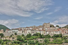 Mosset village in Pyrenees Royalty Free Stock Image