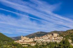 Mosset wioska, Francja Obrazy Royalty Free
