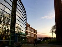 Mossley Mill. The Mill offices at sunset Stock Images
