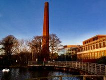 Mossley Mill. At sunset Royalty Free Stock Images