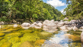 Mossman River Lookout, Mossman Gorge, Daintree National Park, QLD, Australia. Mossman River Lookout, in the Mossman Gorge, Daintree National Park, Queensland stock image
