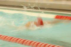 Mosso del colpo di nuotata della farfalla Fotografie Stock