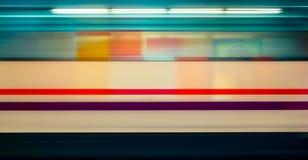 Mosso del treno ad alta velocità in sottopassaggio, Fotografia Stock Libera da Diritti