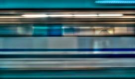 Mosso del treno ad alta velocità in sottopassaggio, Immagine Stock Libera da Diritti