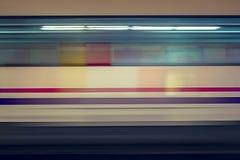 Mosso del treno ad alta velocità in sottopassaggio Fotografie Stock Libere da Diritti