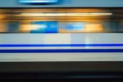 Mosso del treno ad alta velocità in sottopassaggio Fotografia Stock Libera da Diritti