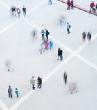 Mosso della gente, vista aerea Fotografie Stock Libere da Diritti