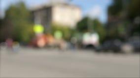 Mosso della via della gente e del trasporto archivi video