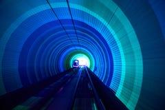 Mosso ferroviario del fondo del tunnel commovente Fotografia Stock