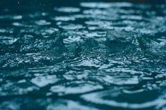 Mosso, gocciolina di acqua nello stagno Immagine Stock Libera da Diritti