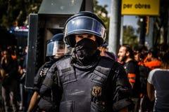 Mossos riot police. stock photo