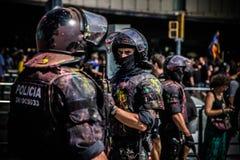 Mossos zamieszki polici oddział z obrazem, fotografia stock