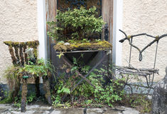 Mossy chairs and table Royalty Free Stock Photography