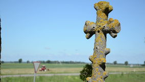 Mossy cross tractor work Royalty Free Stock Photos